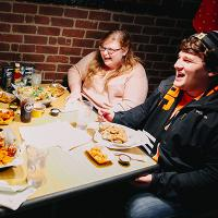 Student enjoy eating out in Tiffin